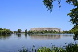 Dutzendteich Nuremberg with Congress Hall